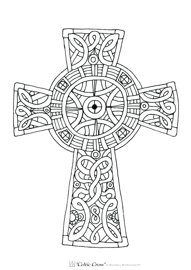 736x1039 Free Celtic Cross Coloring Page Celtic Christian Cross Coloring