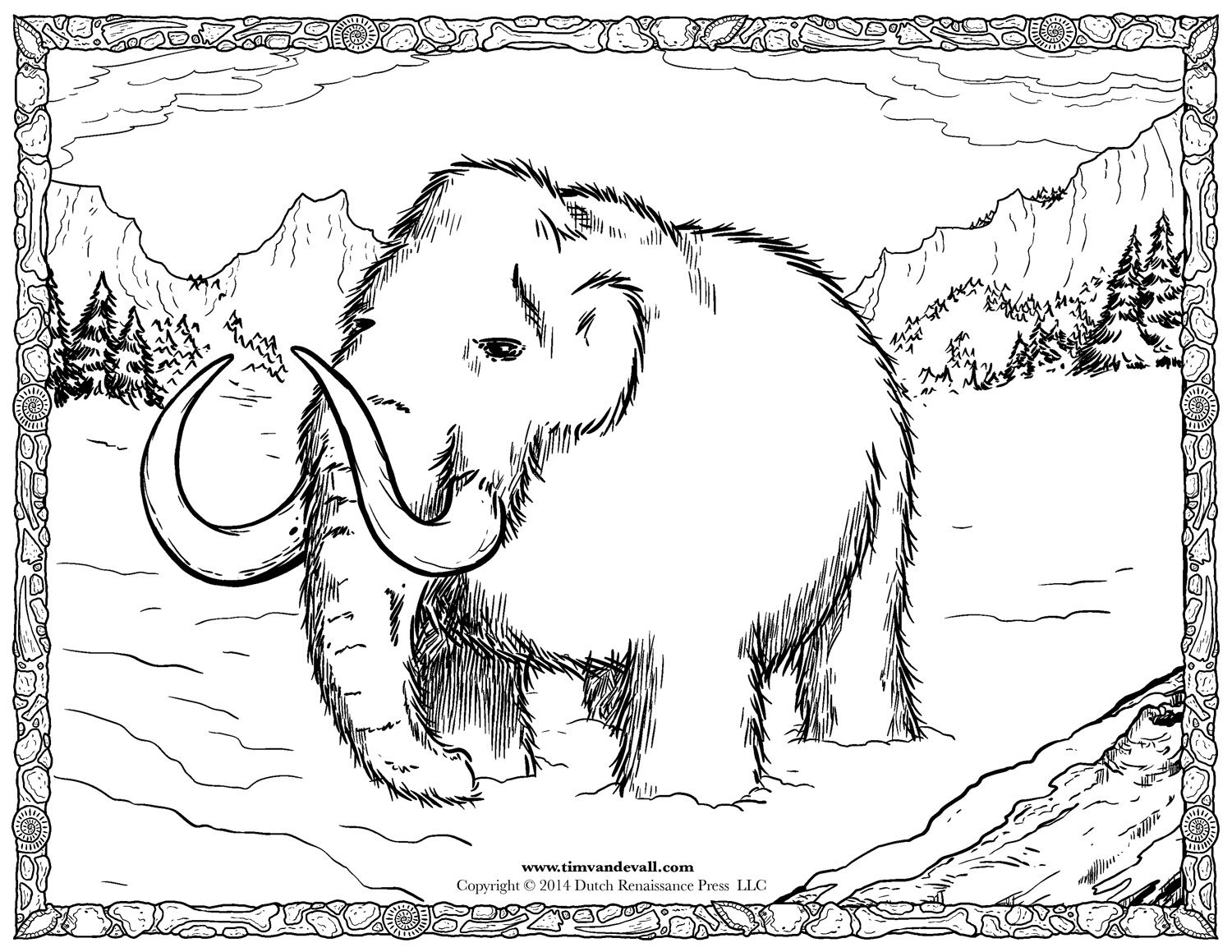 1500x1159 Woolly Mammoth Coloring Pages School Ideas Social