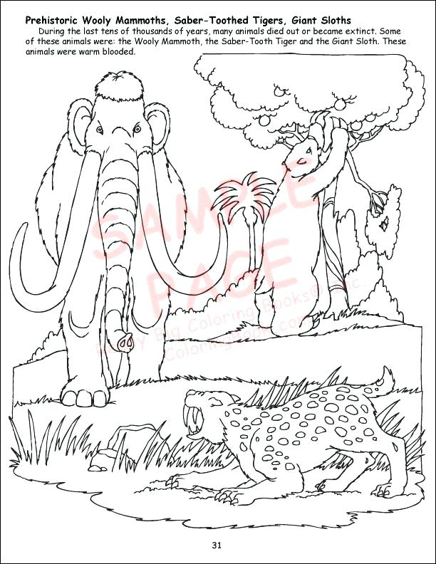 612x792 Wooly Mammoth Coloring Page Coloring Woolly Mammoth Coloring Pages