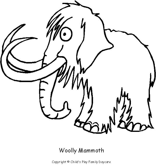 659x708 Wooly Mammoth Coloring Page Drawing Egyptians