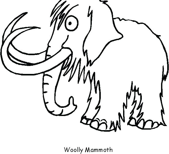 659x600 Wooly Mammoth Coloring Page Mammoth Coloring Page Luxury Mammoth
