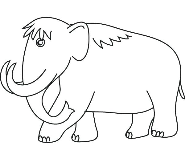 600x500 Wooly Mammoth Coloring Page