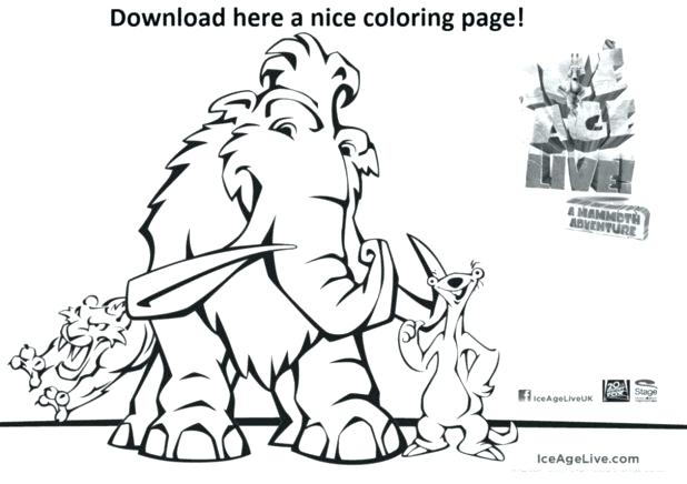 618x436 Ice Age Coloring Pages Ice Age Mammoth Coloring Pages Pics