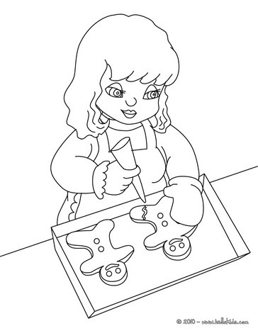 364x470 Gingerbread Man Coloring Pages