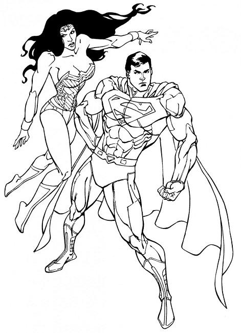 471x650 Superman Wonder Woman Coloring Pages Woman