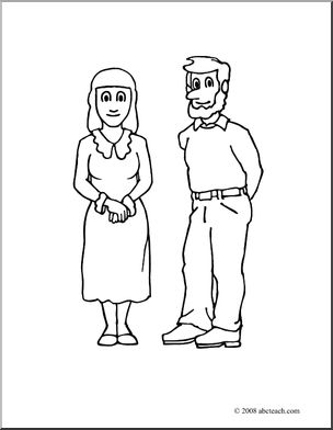 304x392 Clip Art People Woman And Man