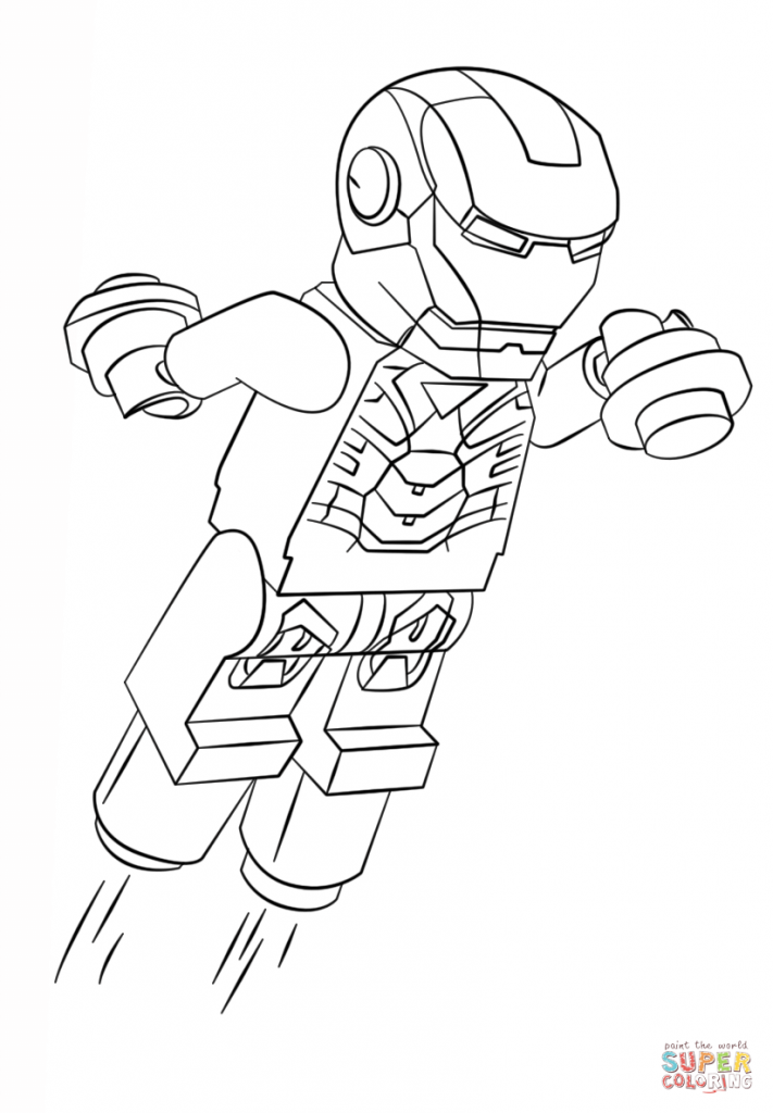 711x1024 Lego Iron Man Coloring Pages