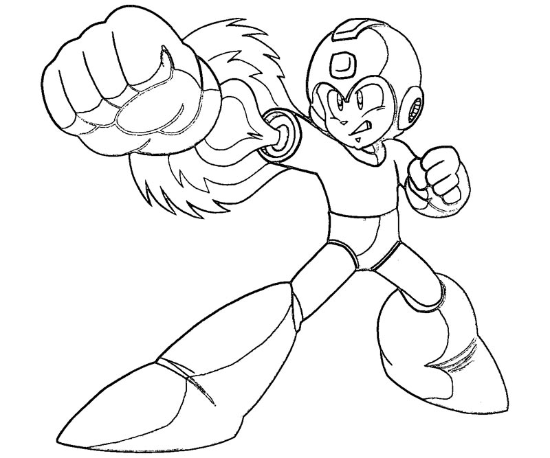 800x667 Mega Man Coloring Pages