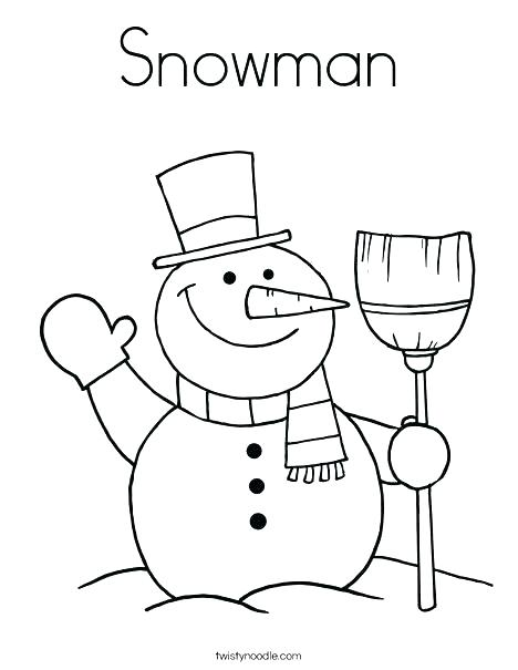 468x605 Snow Man Coloring Page Coloring Pages Snowman Snowman Coloring