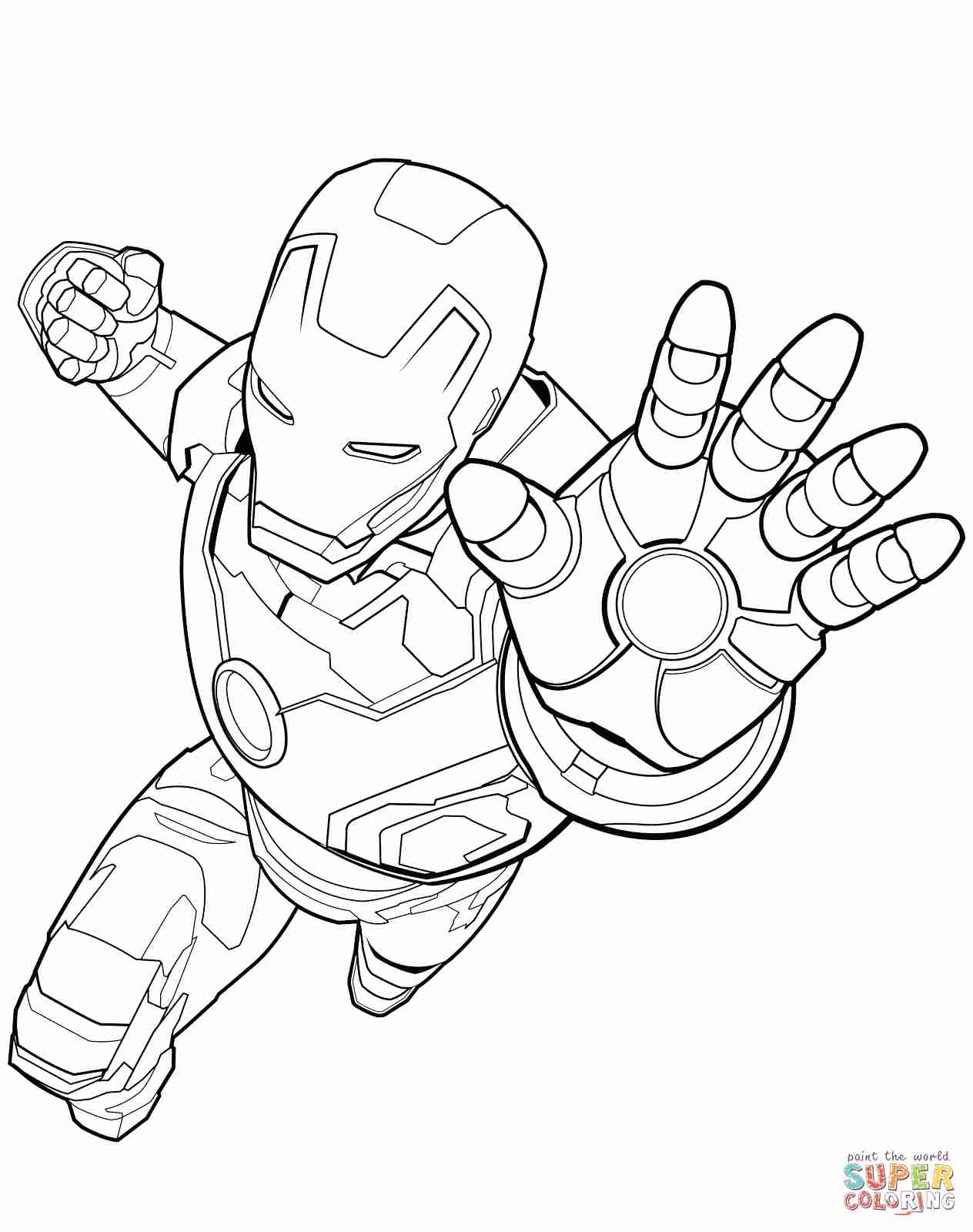 1264x1600 Avengers Iron Man Coloring Page Free Printable Pages Best Sheet
