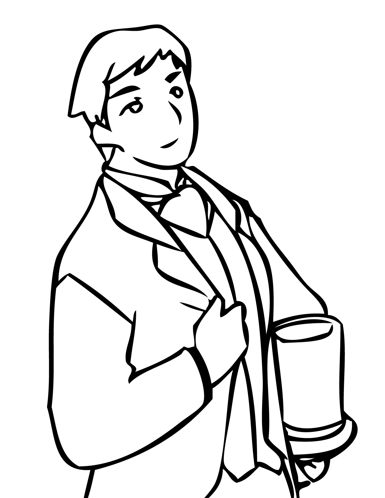1275x1650 Best Man Coloring Page