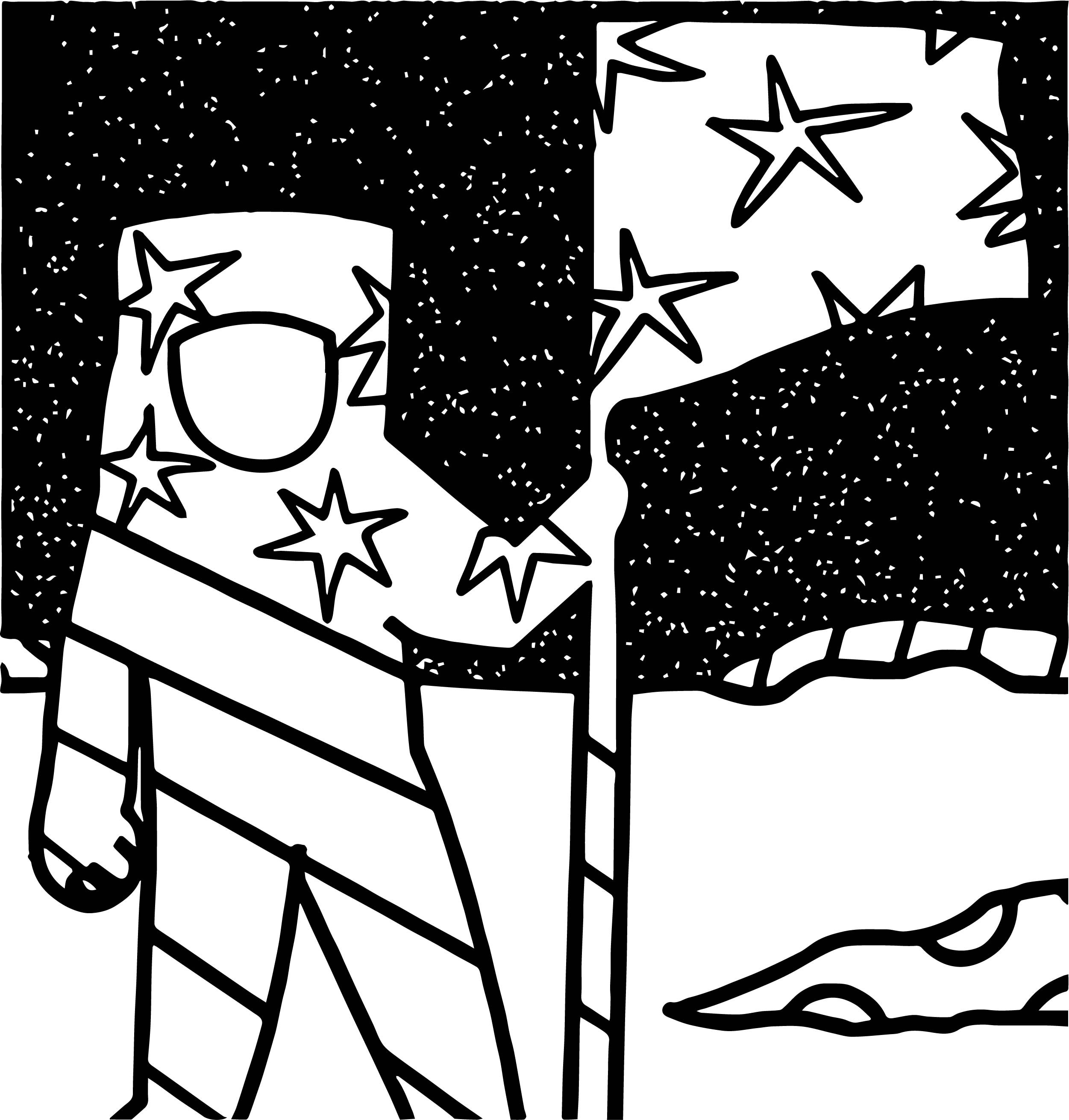 2502x2621 Astronaut On The Moon Coloring Pages With Us Flag For Kids Lovely