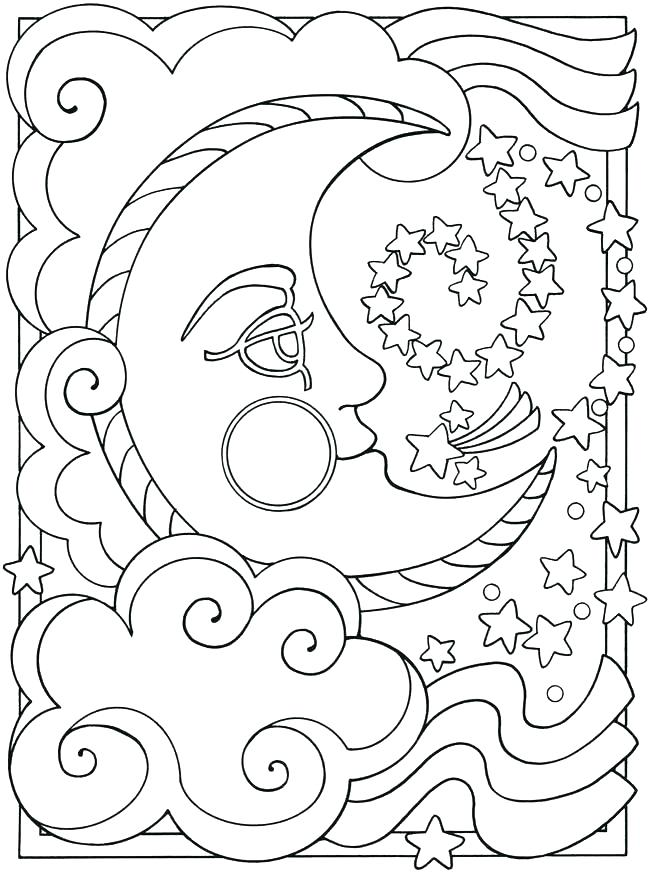 650x874 Moon Coloring Pages Sun And Moon Coloring Pages Moon Coloring