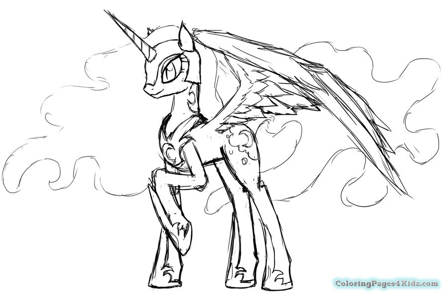 900x600 My Little Pony Coloring Pages Nightmare Moon Coloring Pages For Kids