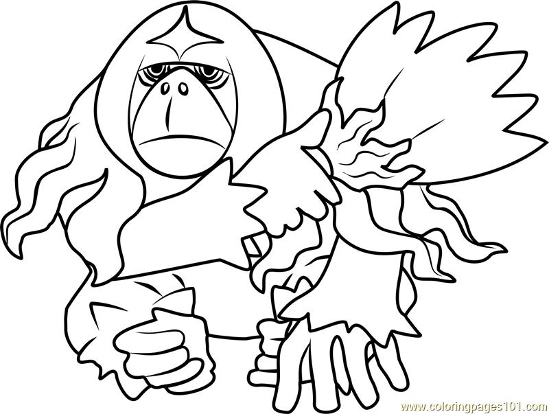 800x603 Oranguru Pokemon Sun And Moon Coloring Page