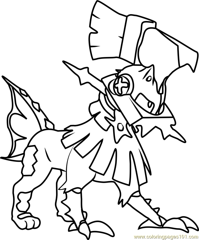 661x800 Type Null Pokemon Sun And Moon Coloring Page