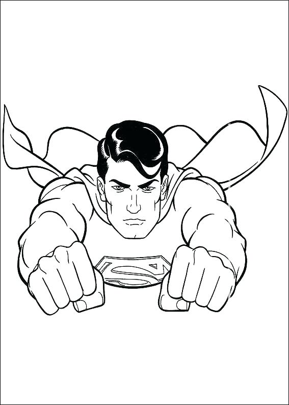 567x794 Super Man Coloring Pages Superman Coloring Pages Printable