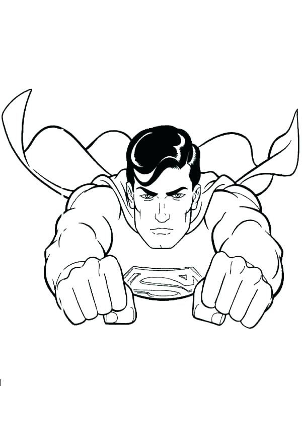 600x840 Superman Coloring Page Man Steel Coloring Pages Medium Size