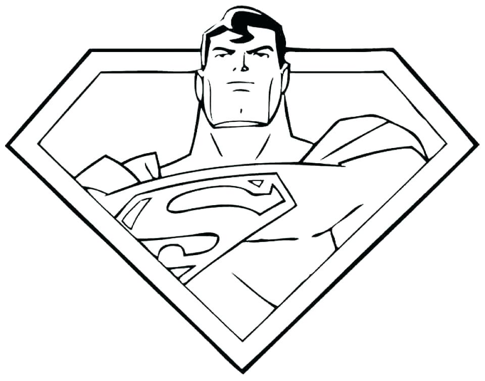 960x754 Superman Logo Coloring Pages Superman Man Of Steel Coloring Pages