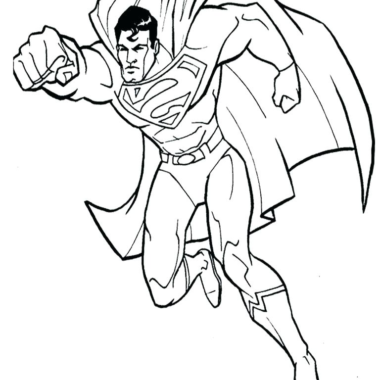 768x768 Coloring Pages For Children Man Of Steel Coloring Pages Kids