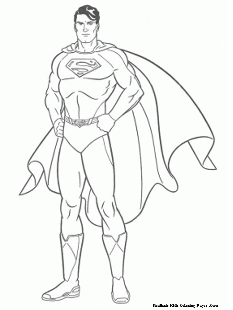 768x1024 Superman The Man Of Steel Kids Colorig Pages Free Coloring Pages
