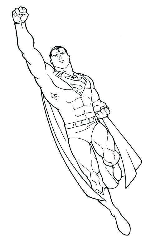 484x766 Superman Man Of Steel Coloring Pages