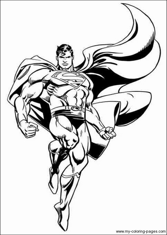 567x794 Free Superman Man Of Steel Coloring Pages Super Hero Theme
