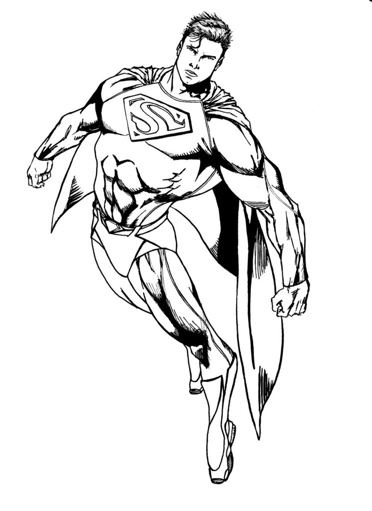 745x1024 Great Man Of Steel Coloring Pages