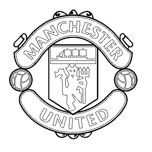 595x595 Manchester United Coloring Pages Free Soccer Coloring Pages