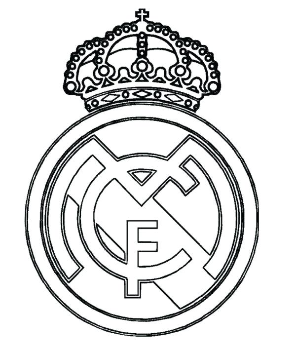 600x713 Manchester United Coloring Pages Real Logo Soccer Coloring Pages