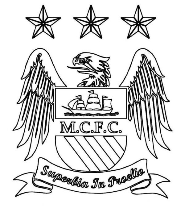 600x674 Manchester United Logo Soccer Coloring Pages