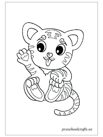 360x480 Tiger Coloring Pages White Page White Tiger Colouring Pages White