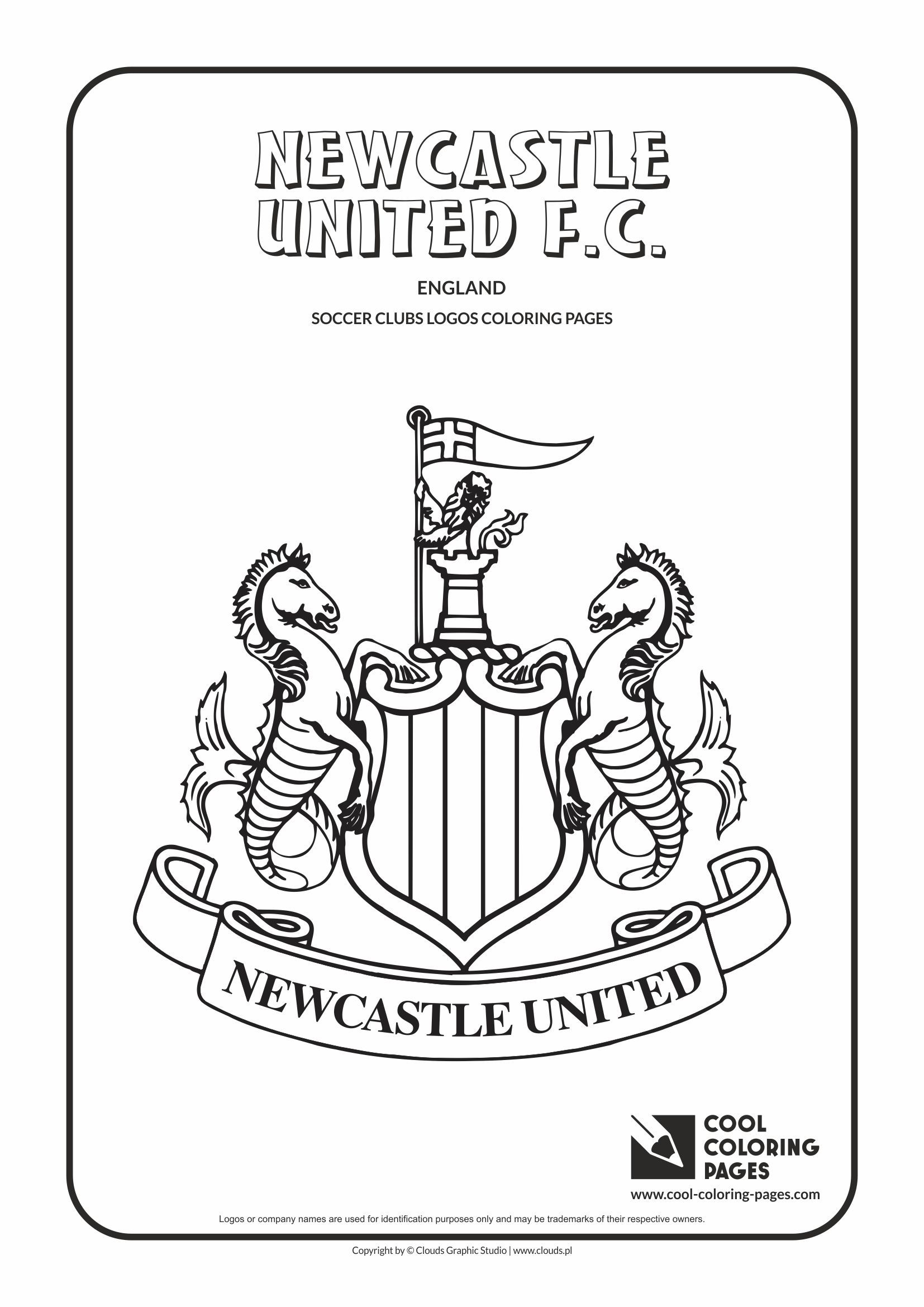 1654x2339 Authentic Man Utd Coloring Pages Newcastle Uni