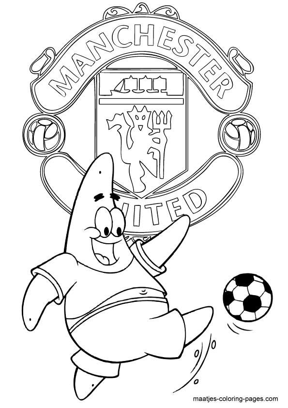 595x842 Manchester United Coloring Pages