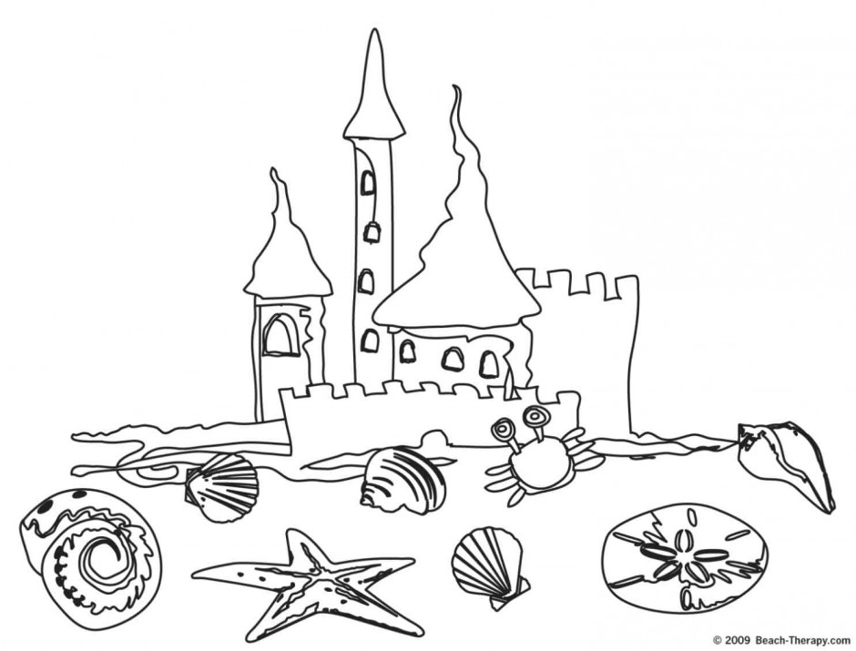 940x715 Sand Castle Coloring Pages Many Interesting Cliparts