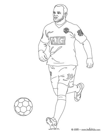 364x470 Wayne Rooney Playing Soccer Coloring Pages