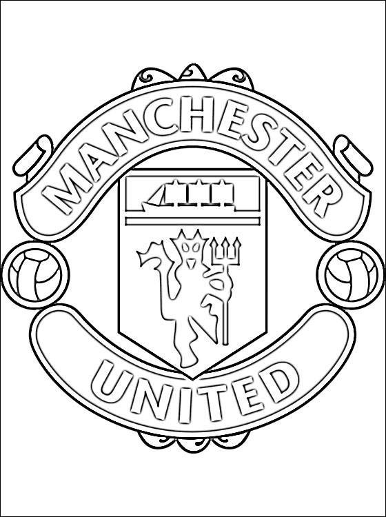 560x750 Man Utd Coloring Pages Coloring Page Of Manchester United Fc Logo