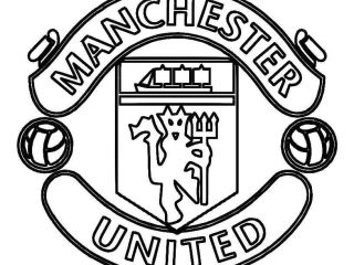 320x240 Football Pictures To Colour Print Manchester United Logo Soccer