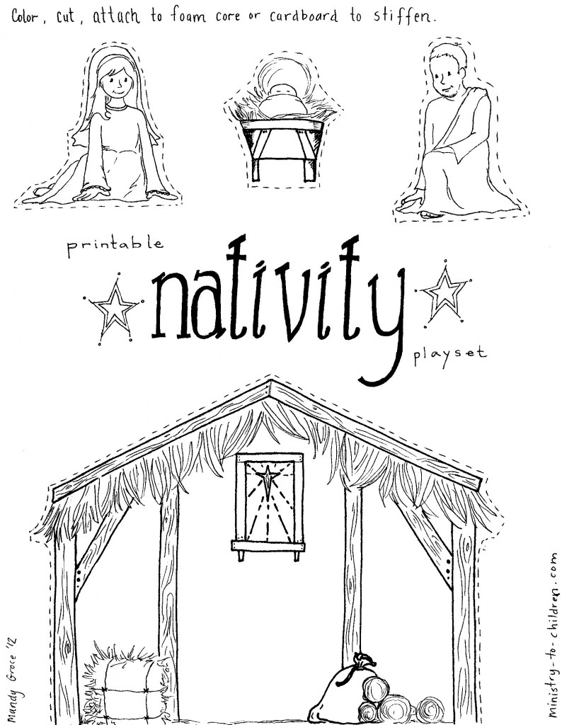 794x1024 Jesus In A Manger Coloring Page Newyork