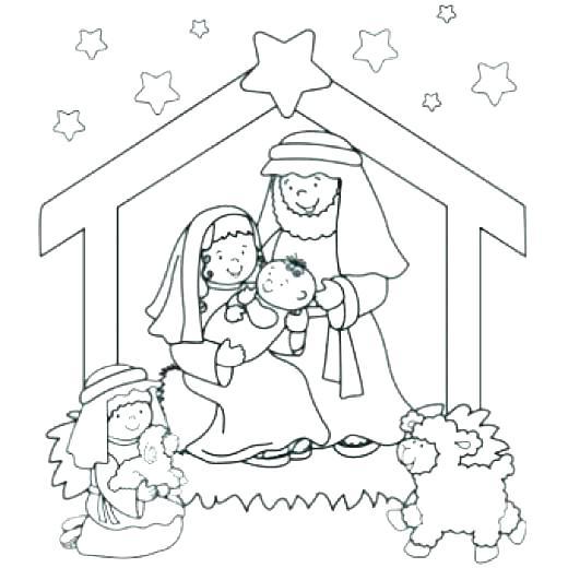 520x520 Manger Coloring Page Manger Coloring Page Baby Nativity Scene