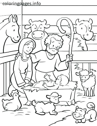 386x500 Manger Coloring Page Manger Coloring Pages Manger Coloring Page