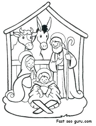 314x413 Manger Coloring Page Manger Scene Free Coloring Pages
