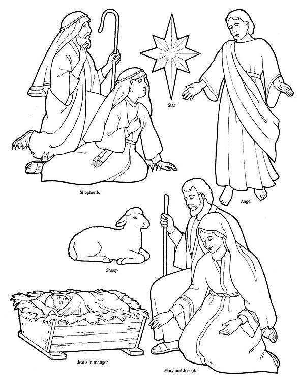590x768 Printable Nativity Coloring Page To Cut Out And Make Your Own