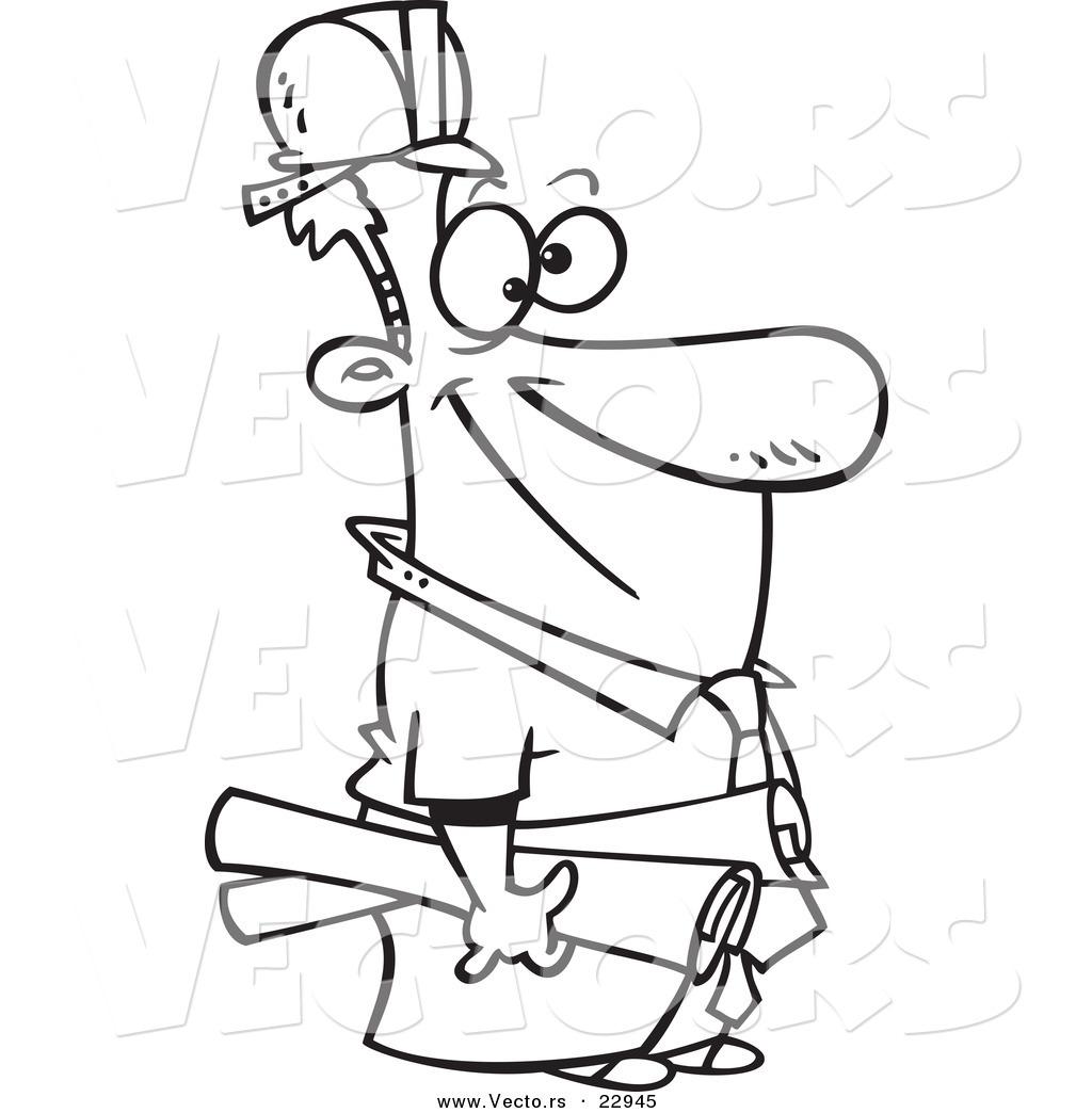 1024x1044 Vector Of A Cartoon Construction Manager