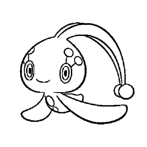 Manaphy Coloring Pages