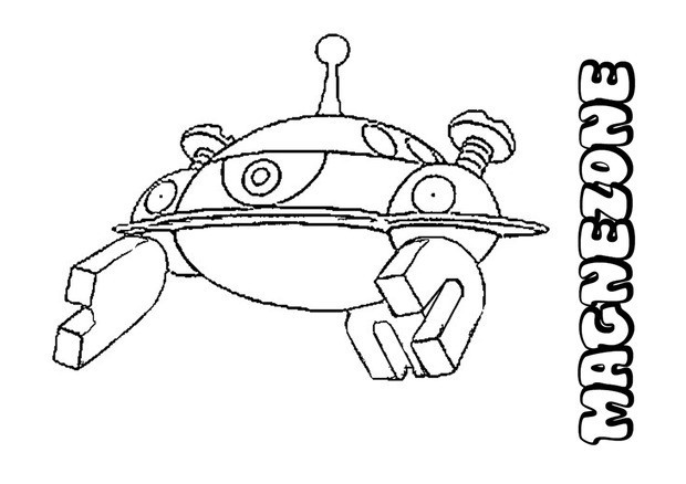 620x438 Magnezone Pokemon Coloring Page More Electric Pokemon Coloring
