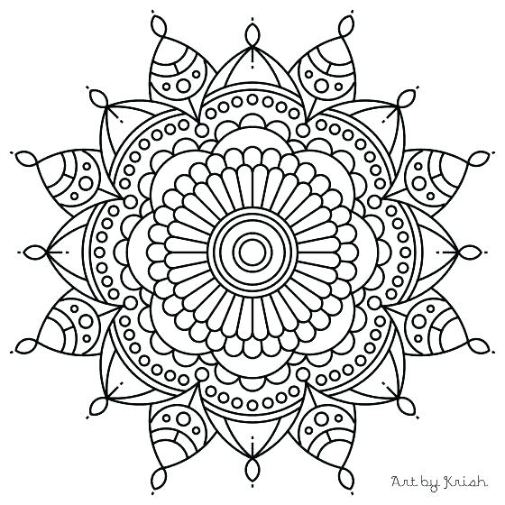 560x560 Easy Mandala Coloring Pages Also Here Are Easy Easy Mandala