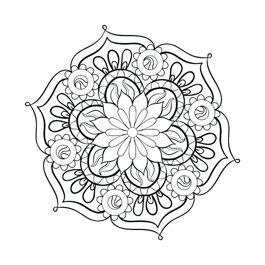 878x878 Easy Mandala Coloring Pages Mandala Coloring Pages Mandala Adult