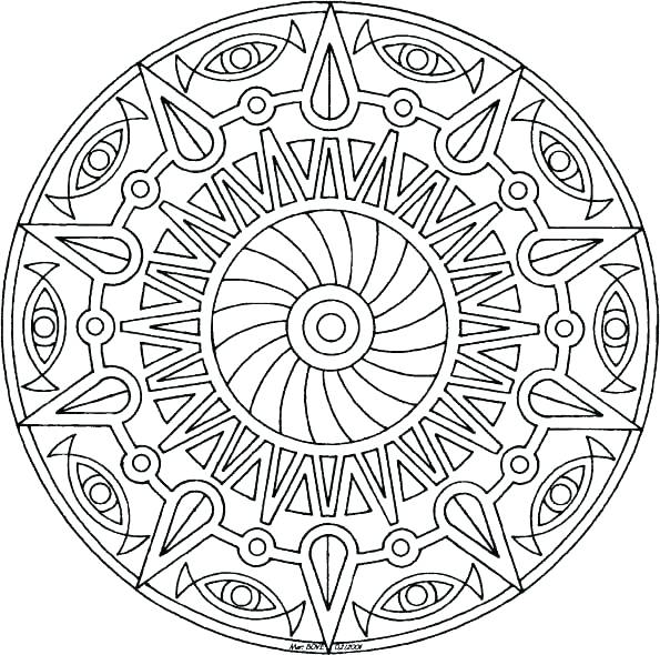 595x590 Easy Mandala Coloring Pages Simple Mandala Coloring Pages Here Are