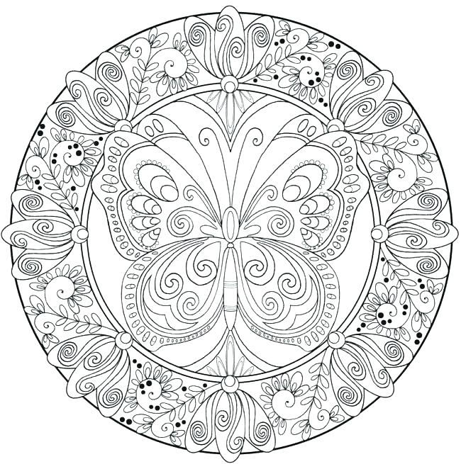 650x655 Flower Mandala Coloring Pages Mandala Coloring Pages Online